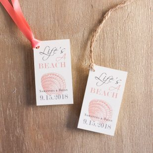 Beach Romance Favor Tags
