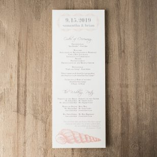 Beach Romance Flat Ceremony Programs