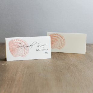 Beach Romance Place and Escort Cards
