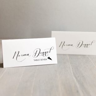 Black Script Place and Escort Cards