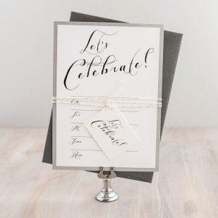 Black Script Fill in the Blank Invitations