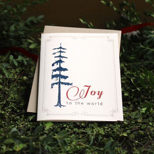 Blue Pine Boxed Holiday Cards