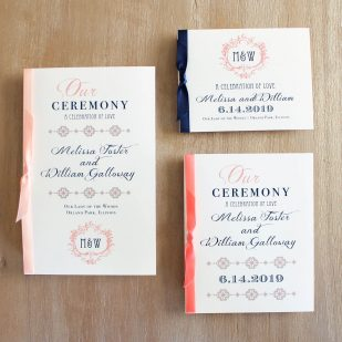 Deco & Lace Ceremony Booklet