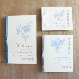 Elegant Blue Ceremony Booklet