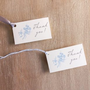 Elegant Blue Favor Tags