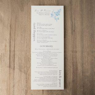 Elegant Blue Flat Ceremony Programs