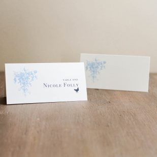 Elegant Blue Place and Escort Cards