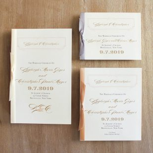 Elegant Ivory Ceremony Booklet