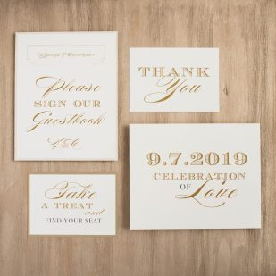 Elegant Ivory Custom Signs
