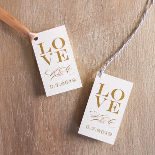 Elegant Ivory Favor Tags
