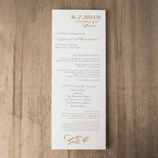 Elegant Ivory Flat Ceremony Programs