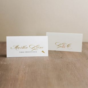 Elegant Ivory Place and Escort Cards