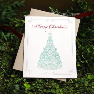 Elegant Tree Boxed Holiday Cards