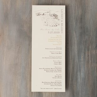 Farm Chic Flat Ceremony Programs
