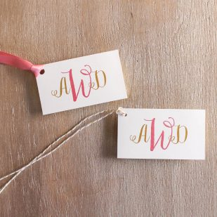 Gold & Glitter Favor Tags