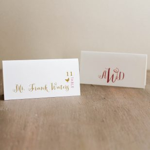 Gold & Glitter Place and Escort Cards