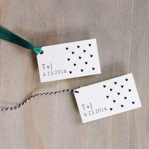 Hearts & Lace Favor Tags