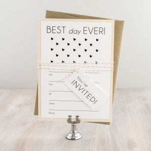 Hearts & Lace Fill in the Blank Invitations