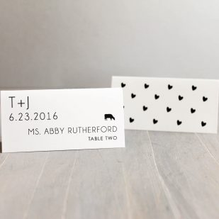 Hearts & Lace Place and Escort Cards