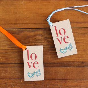 Henna Love Favor Tags