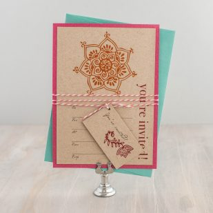 Henna Love Fill in the Blank Invitations