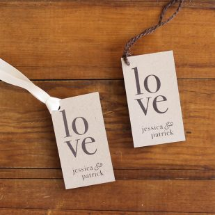 Ivory Romance Favor Tags