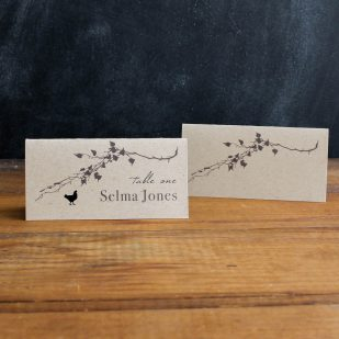 Ivory Romance Place and Escort Cards