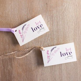 Lavender in Love Favor Tags