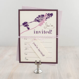 Lavender in Love Fill in the Blank Invitations