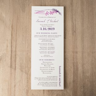 Lavender in Love Flat Ceremony Programs