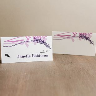 Lavender in Love Place and Escort Cards