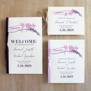Lavender in Love Ceremony Booklet