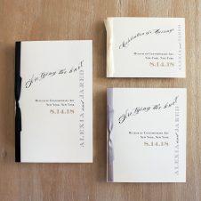 modernblackaandwhiteceremonybooklets