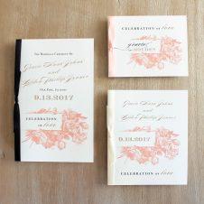 modernfloralceremonybooklets