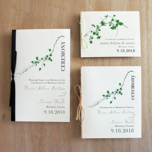 Modern Garden Ceremony Booklet