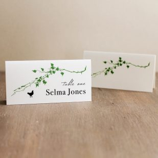 Modern Garden Place and Escort Cards