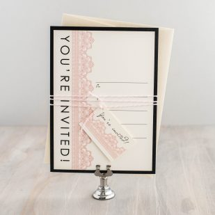 Modern Lace Fill in the Blank Invitations