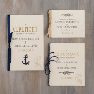 Nautical Bliss Ceremony Booklet