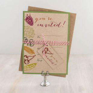 Natural Love Fill in the Blank Invitations