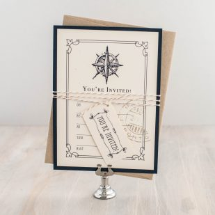 Nautical Bliss Fill in the Blank Invitations