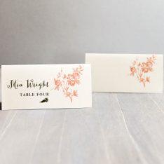peachlovebirdstentedplacecards