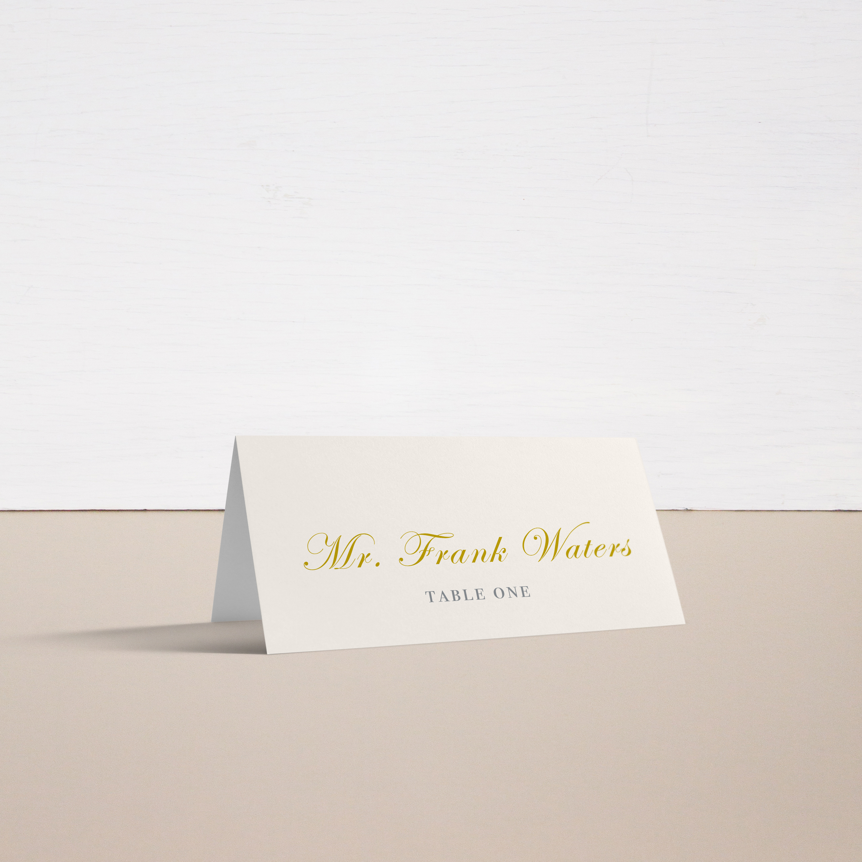 Gold and Blush Monogram Place and Escort Cards