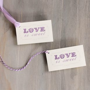 Purple Charmer Favor Tags