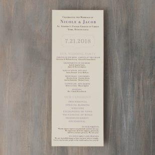 Purple Charmer Flat Ceremony Programs