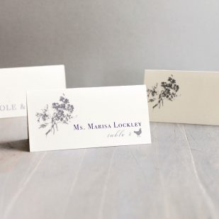 Purple Charmer Place and Escort Cards