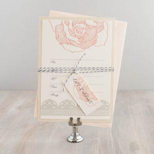 Ruffled Romance Fill in the Blank Invitations