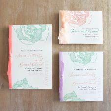 ruffledromancemintceremonybooklets