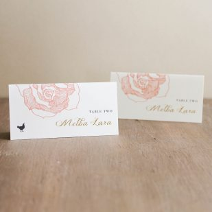 Ruffled Romance Place and Escort Cards