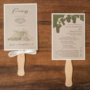 Rustic Chic Winery Ceremony Fans