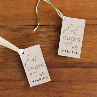 Rustic Chic Winery Favor Tags
